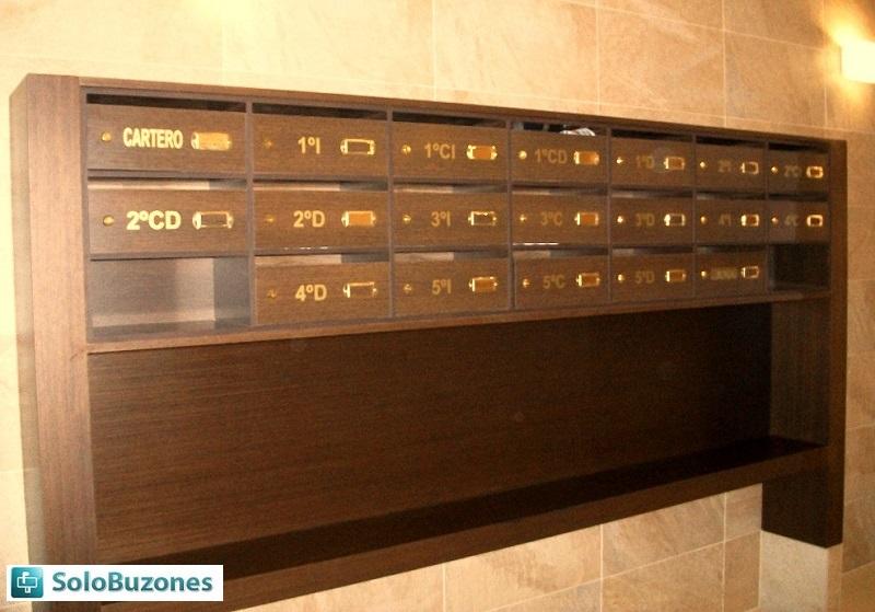 Buzones de madera horizontales