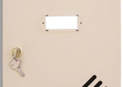 Buzón metalico vertical de interior de ferpasa. Puerta de color crema. El mas vendido en Valencia
