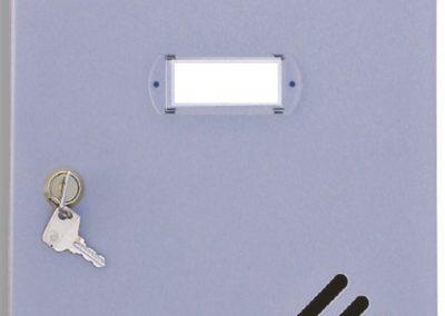 Buzón metalico vertical de interior de ferpasa. Puerta de color plata. El mas vendido en Valencia