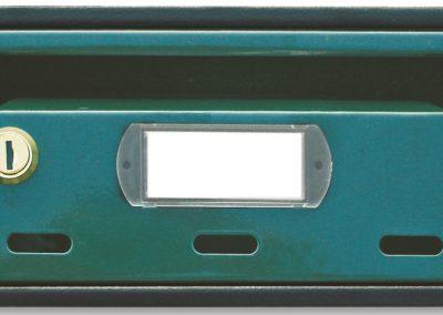 Buzón para comunidades metalico horizontal de interior de ferpasa. Verde oscuro. El mas vendido en Valencia