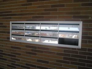 Buzones Kaneor horizontales emportrar con puertas de acero inoxidable